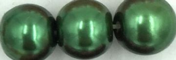 75 Dark green - glass pearls - beads - all sizes